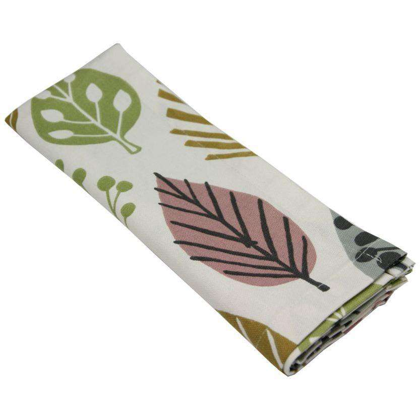 McAlister Textiles Magda Blush Pink Cotton Floral Napkin Sets Kitchen Accessories