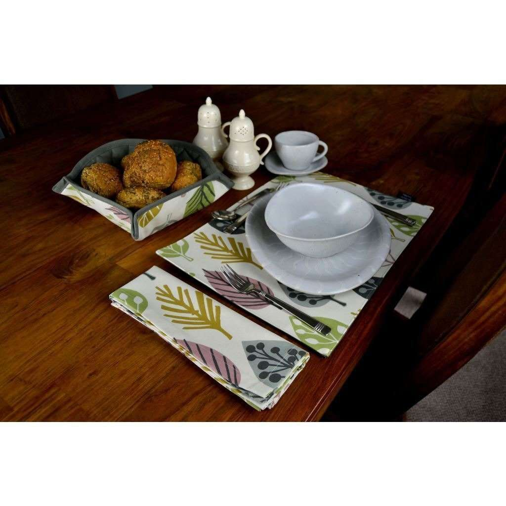 McAlister Textiles Magda Blush Pink Cotton Placemat Set Kitchen Accessories