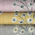 Carica l'immagine nel visualizzatore di Gallery, McAlister Textiles Meadow Soft Grey Floral Cotton Print Curtains Tailored Curtains