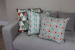 Load image into Gallery viewer, McAlister Textiles Laila Cotton Print Burnt Orange Cushion Cushions and Covers