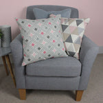 Load image into Gallery viewer, McAlister Textiles Laila Cotton Print Blush Pink Cushion Cushions and Covers