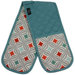 Load image into Gallery viewer, McAlister Textiles Laila Burnt Orange Cotton Print Double Oven Mitts Kitchen Accessories