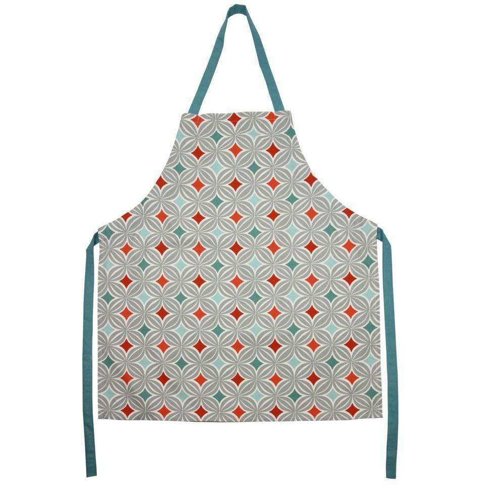 McAlister Textiles Laila Geometric Cotton Apron - Burnt Orange Kitchen Accessories