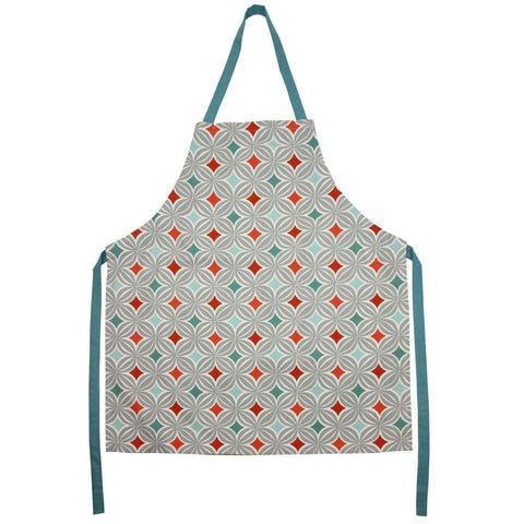 Mcalister Textiles Laila Geometric Terracotta Orange Apron Kitchen Accessories