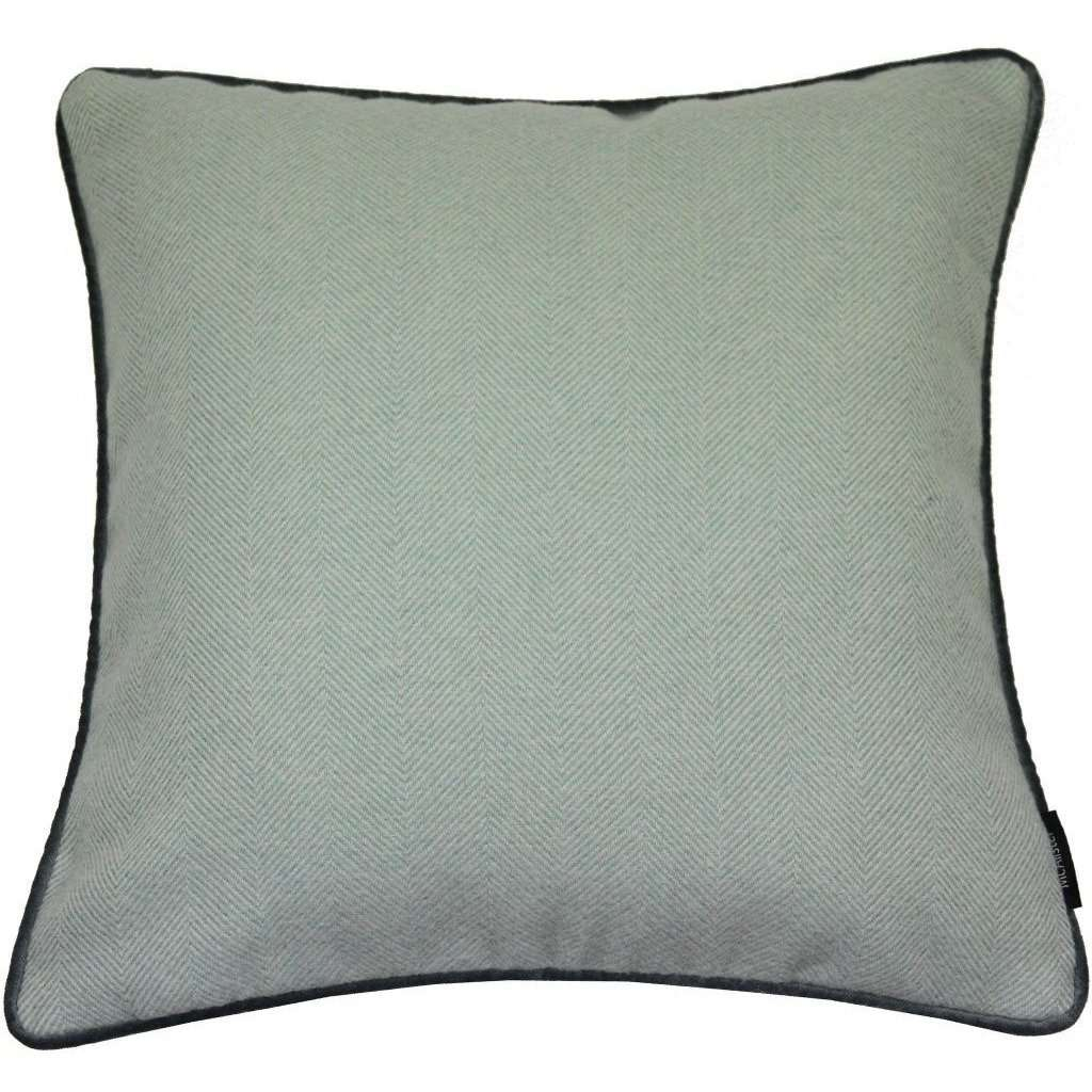 McAlister Textiles Herringbone Boutique Duck Egg Blue Cushion Cushions and Covers Cover Only 43cm x 43cm
