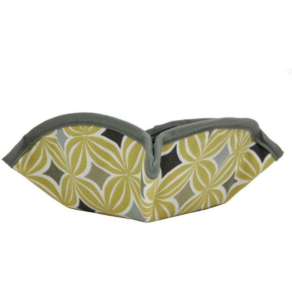 McAlister Textiles Laila Geometric Ochre Yellow Picnic Bread Basket-Kitchen Accessories-