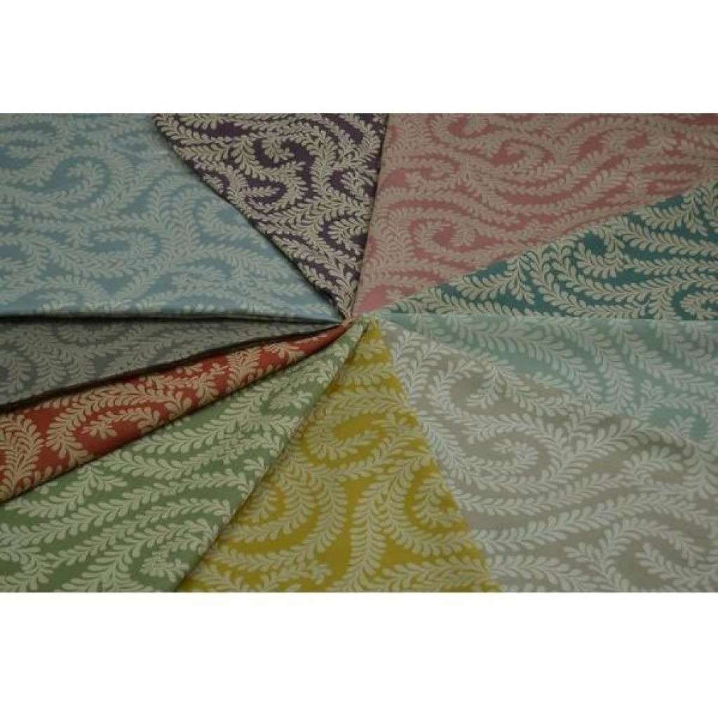 McAlister Textiles Little Leaf Duck Egg Blue Fabric Fabrics