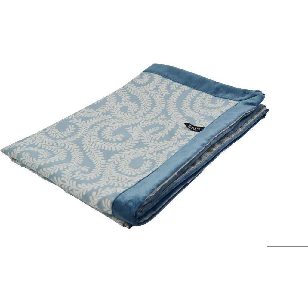 McAlister Textiles Little Leaf Wedgewood Blue Throw Throws and Runners Regular (130cm x 200cm)