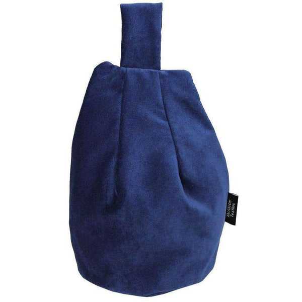 McAlister Textiles Matt Navy Blue Velvet Tablet Stand Mini Bean Bag