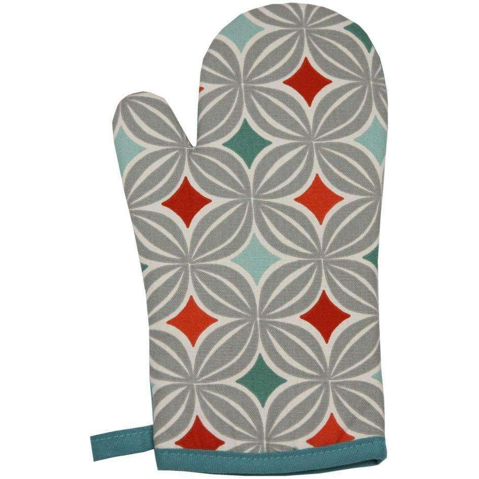 McAlister Textiles Laila Burnt Orange Cotton Print Single Oven Mitt Kitchen Accessories