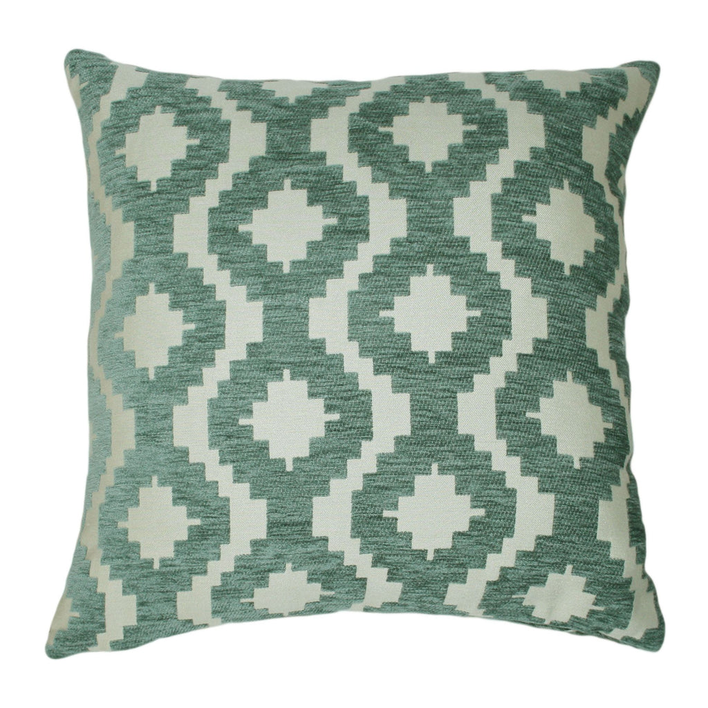 McAlister Textiles Arizona Geometric Duck Egg Blue Pillow Pillow Cover Only 43cm x 43cm