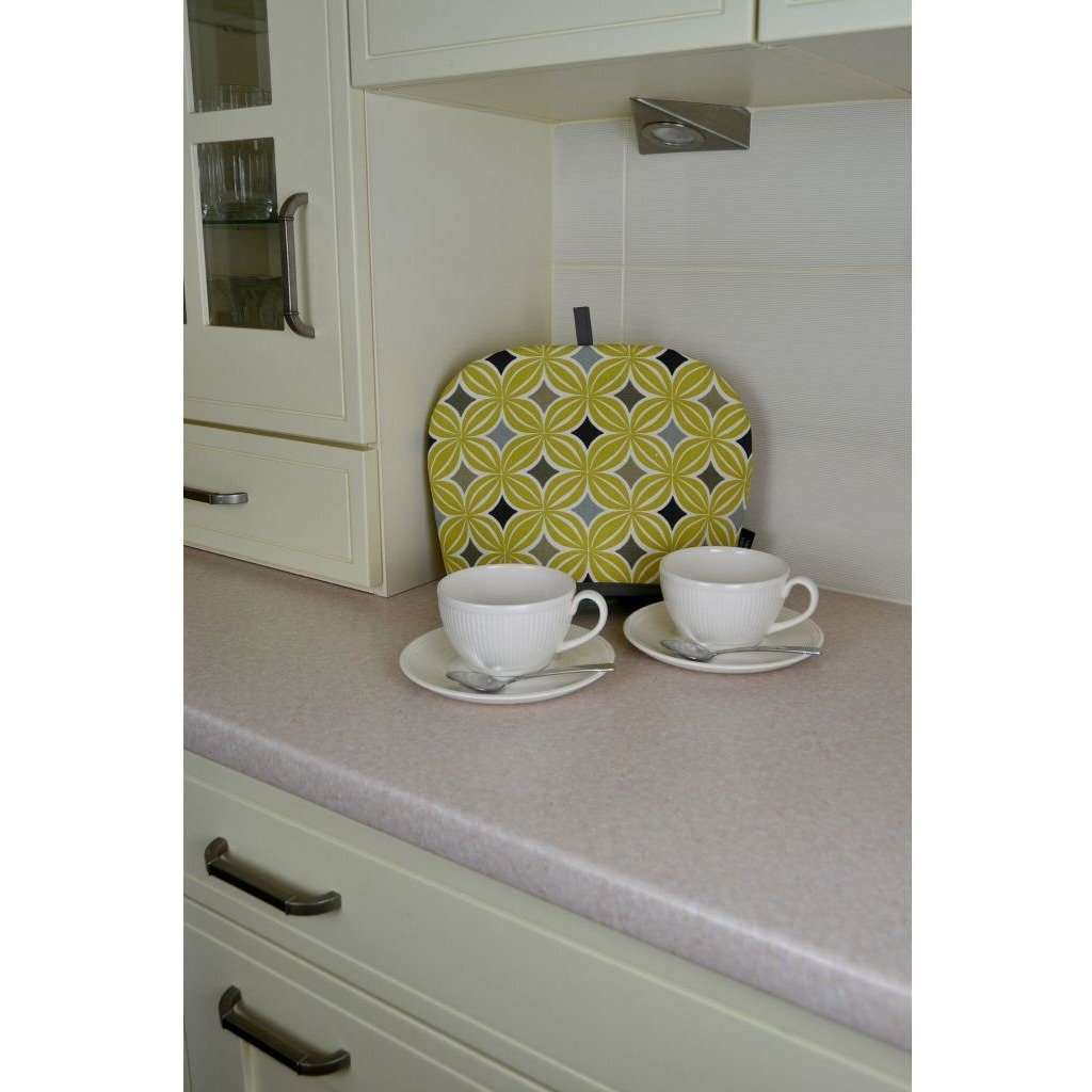 McAlister Textiles Laila Yellow Cotton Print Tea Cosy Kitchen Accessories