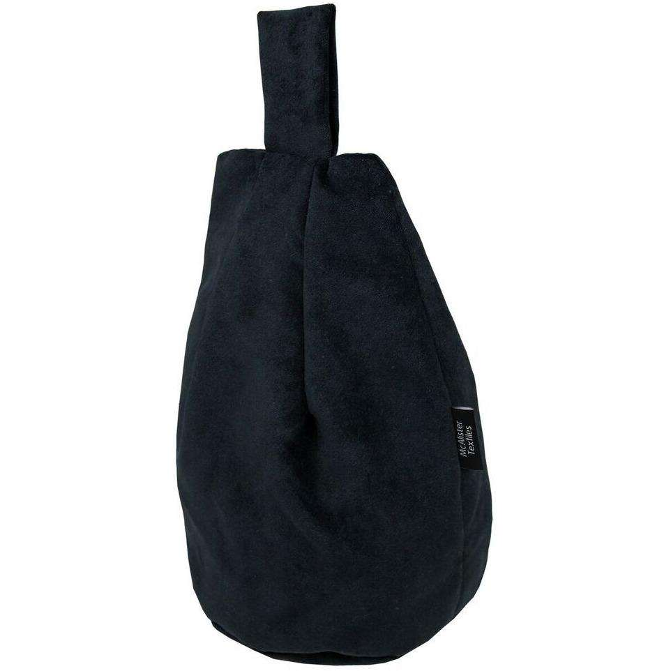McAlister Textiles Matt Black Velvet Tablet Stand Mini Bean Bag