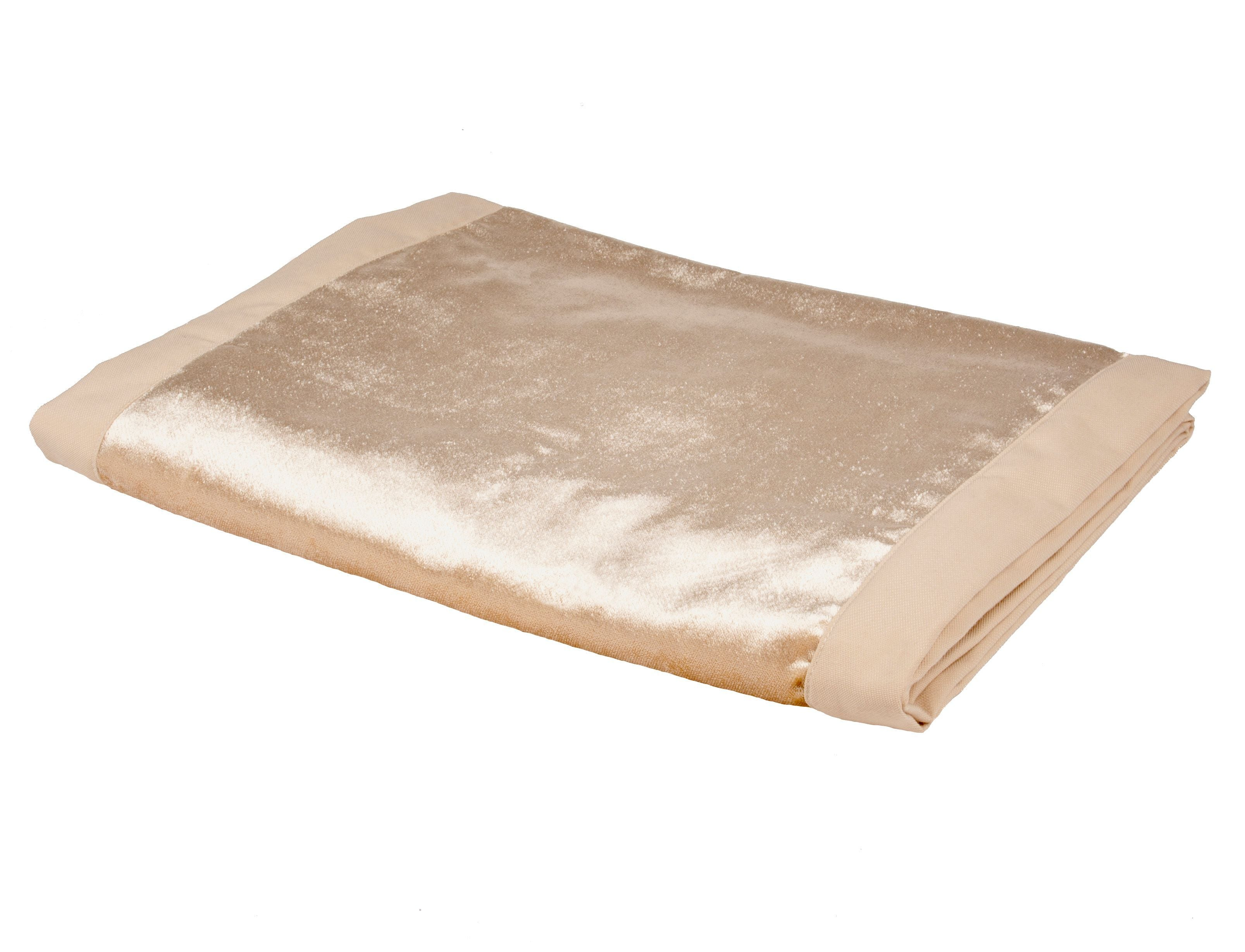 McAlister Textiles Champagne Gold Crushed Velvet Throws & Runners Throws and Runners Bed Runner (50cm x 240cm)