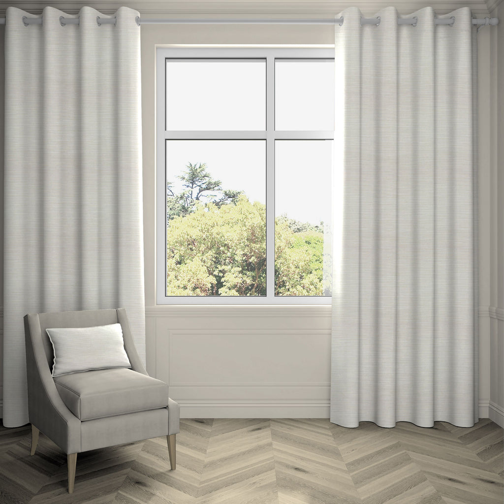 "McAlister Textiles Hamleton Natural Textured Plain Curtains Tailored Curtains 116cm(w) x 137cm(d) (46"" x 54"")"