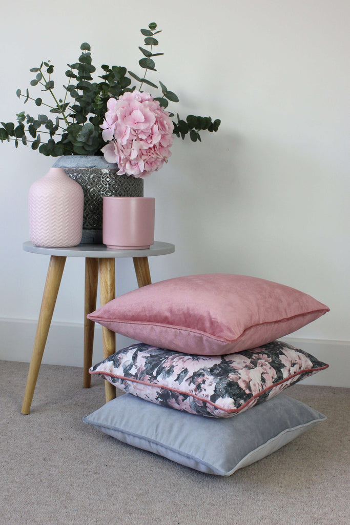 McAlister Textiles Matt Blush Pink Velvet Cushion Cushions and Covers