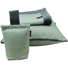 McAlister Textiles Herringbone Boutique Wool Feel Duck Egg Blue & Grey Throw-Throws and Runners-