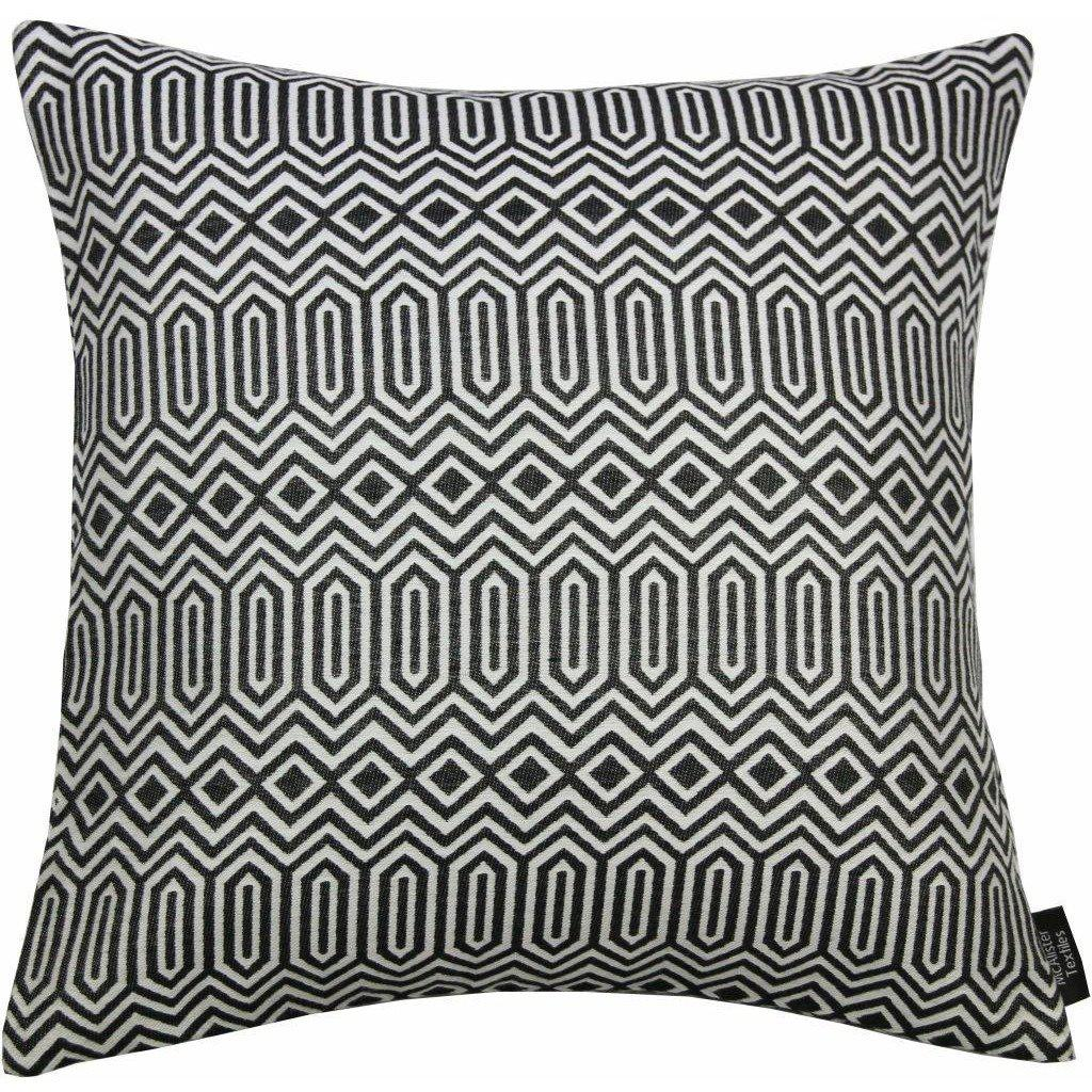 McAlister Textiles Colorado Geometric Black Cushion Cushions and Covers Cover Only 43cm x 43cm