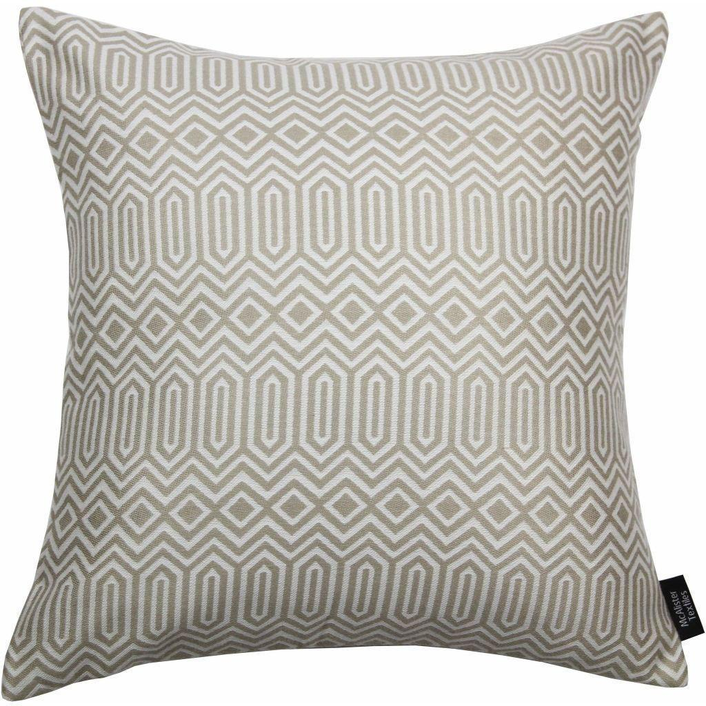 McAlister Textiles Colorado Geometric Taupe Beige Cushion Cushions and Covers Cover Only 43cm x 43cm