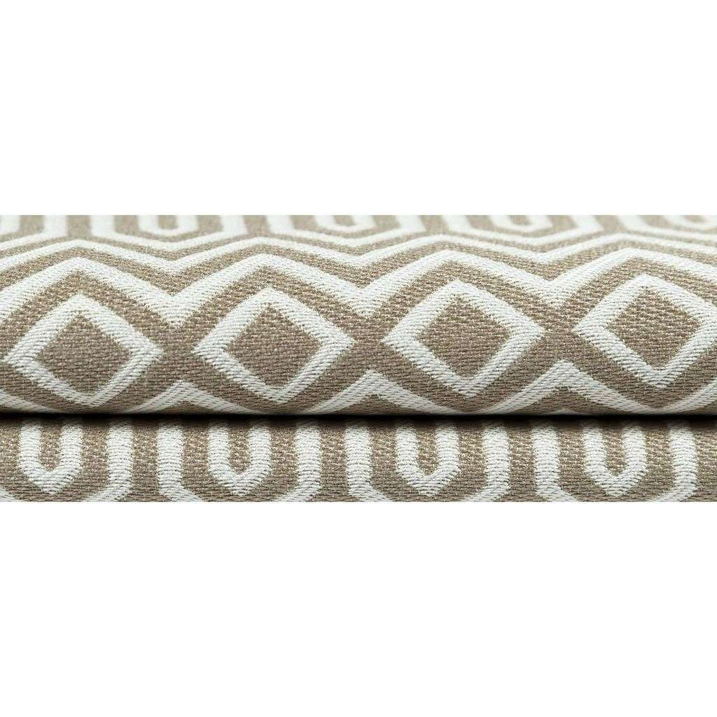 McAlister Textiles Colorado Geometric Taupe Beige Cushion Cushions and Covers