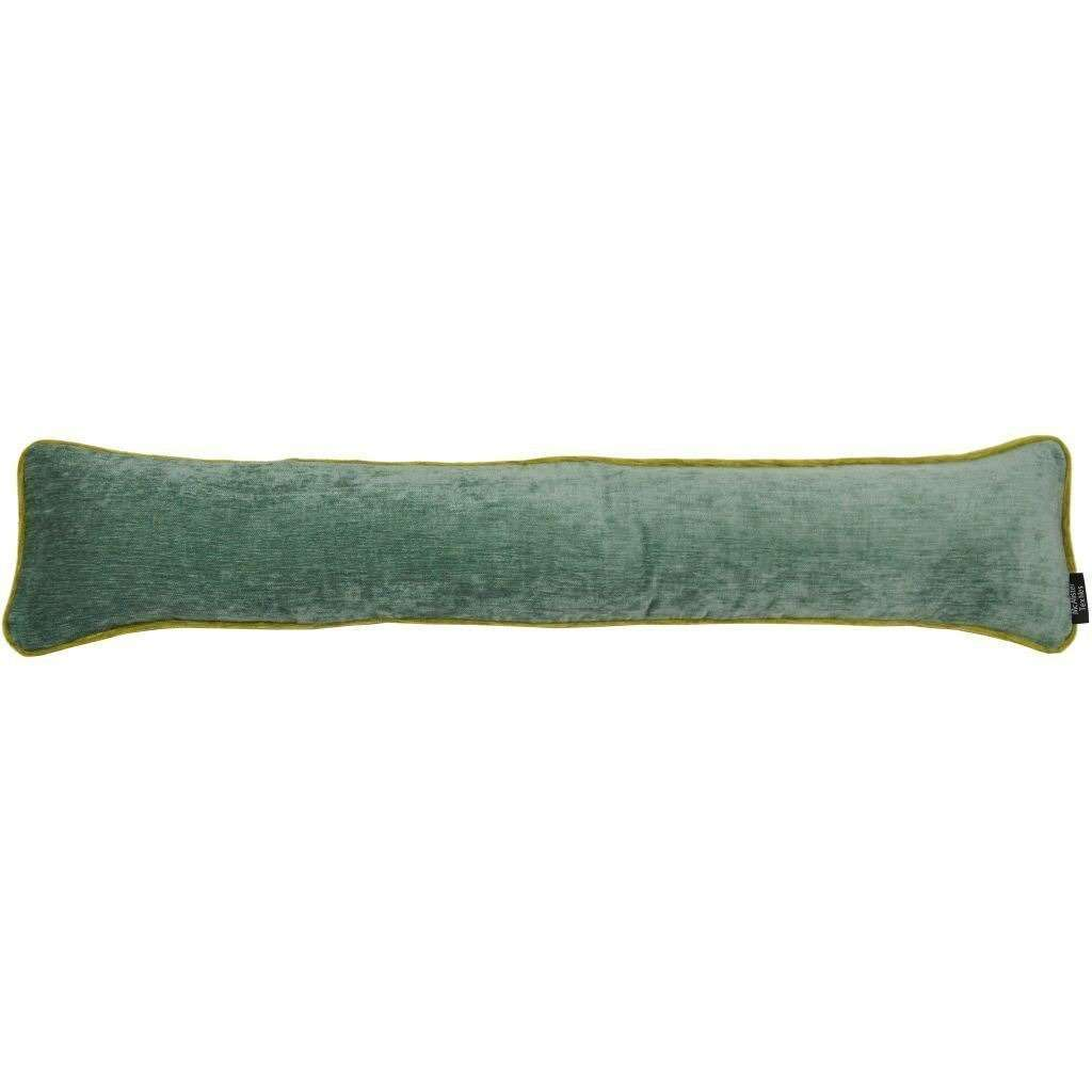 McAlister Textiles Alston Chenille Duck Egg Blue + Green Draught Excluder Draught Excluders