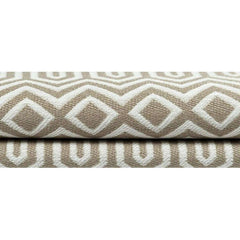McAlister Textiles Colorado Geometric Taupe Cushion-Cushions and Covers-