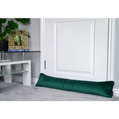 McAlister Textiles Emerald Green Matt Velvet Draught Excluder-Doorstops-