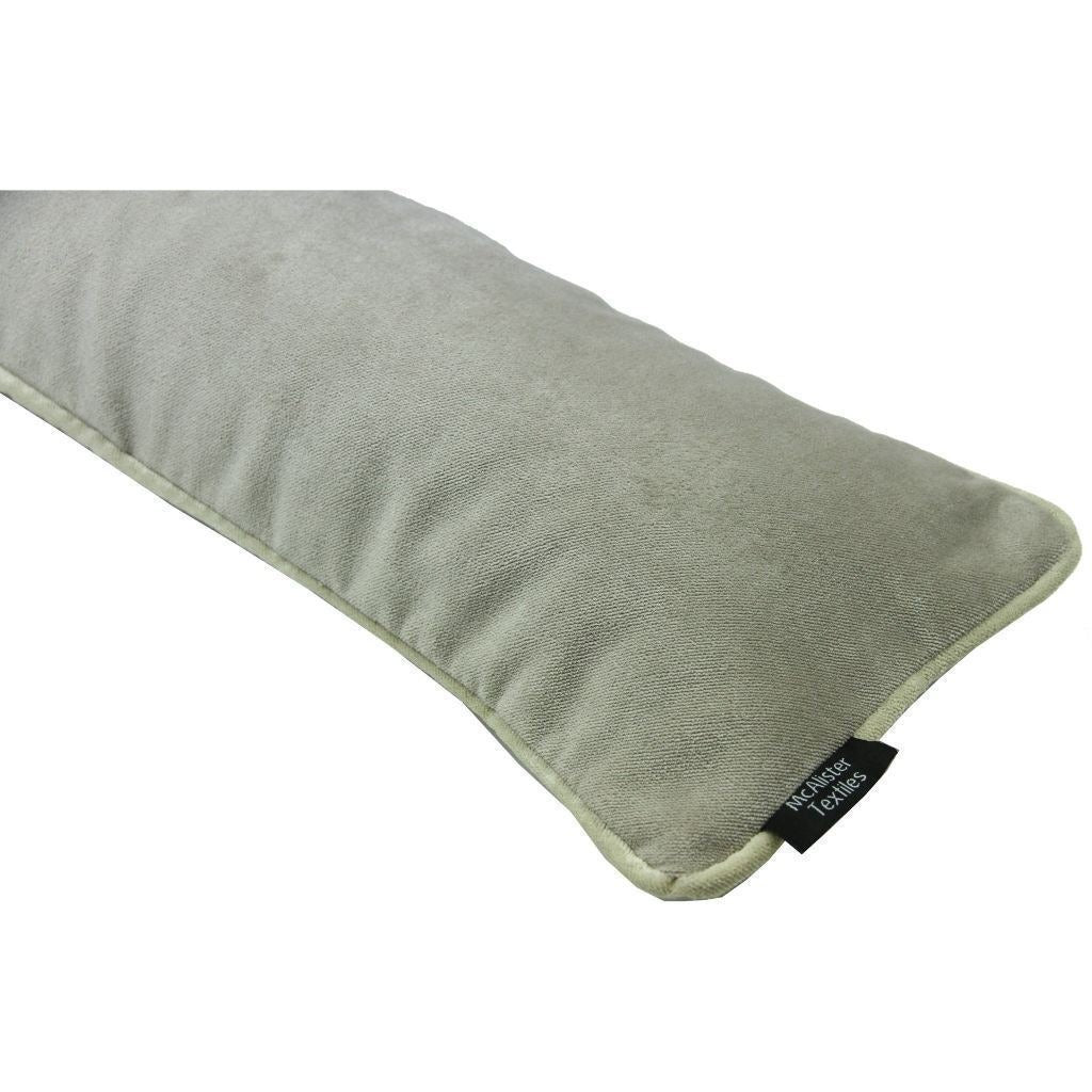 McAlister Textiles Matt Beige Mink Velvet Draught Excluder Draught Excluders