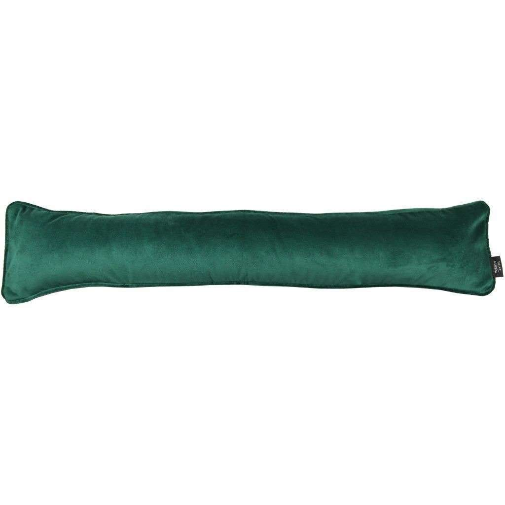 McAlister Textiles Matt Emerald Green Velvet Draught Excluder Draught Excluders