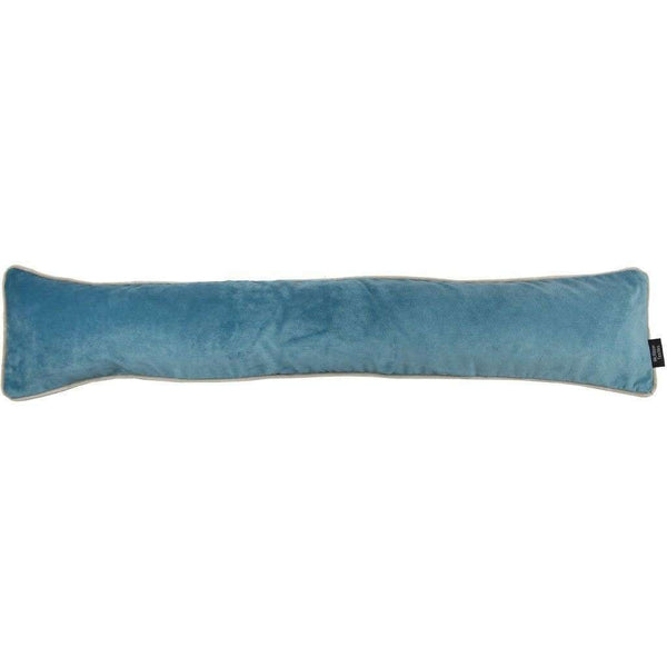 McAlister Textiles Matt Duck Egg Blue Velvet Draught Excluder Draught Excluders