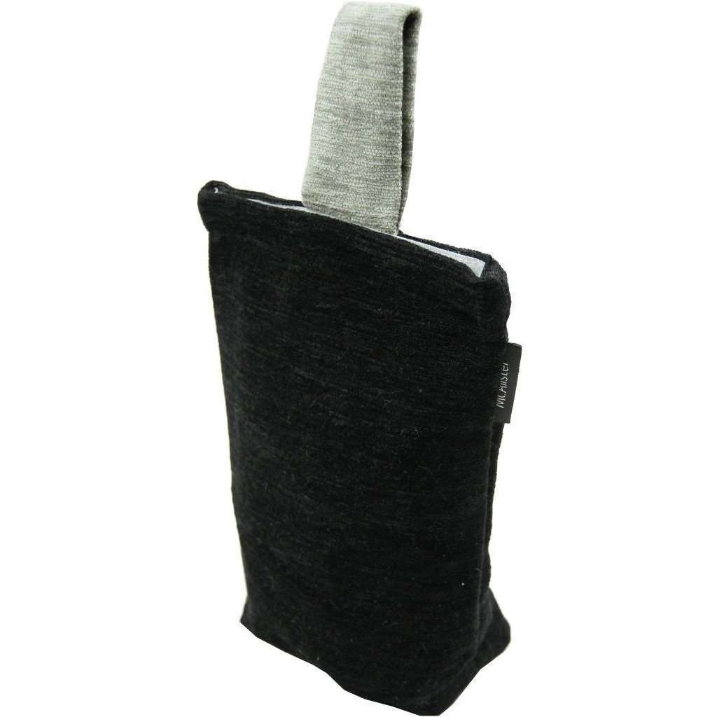 McAlister Textiles Alston Chenille Black + Grey Door Stop Doorstops