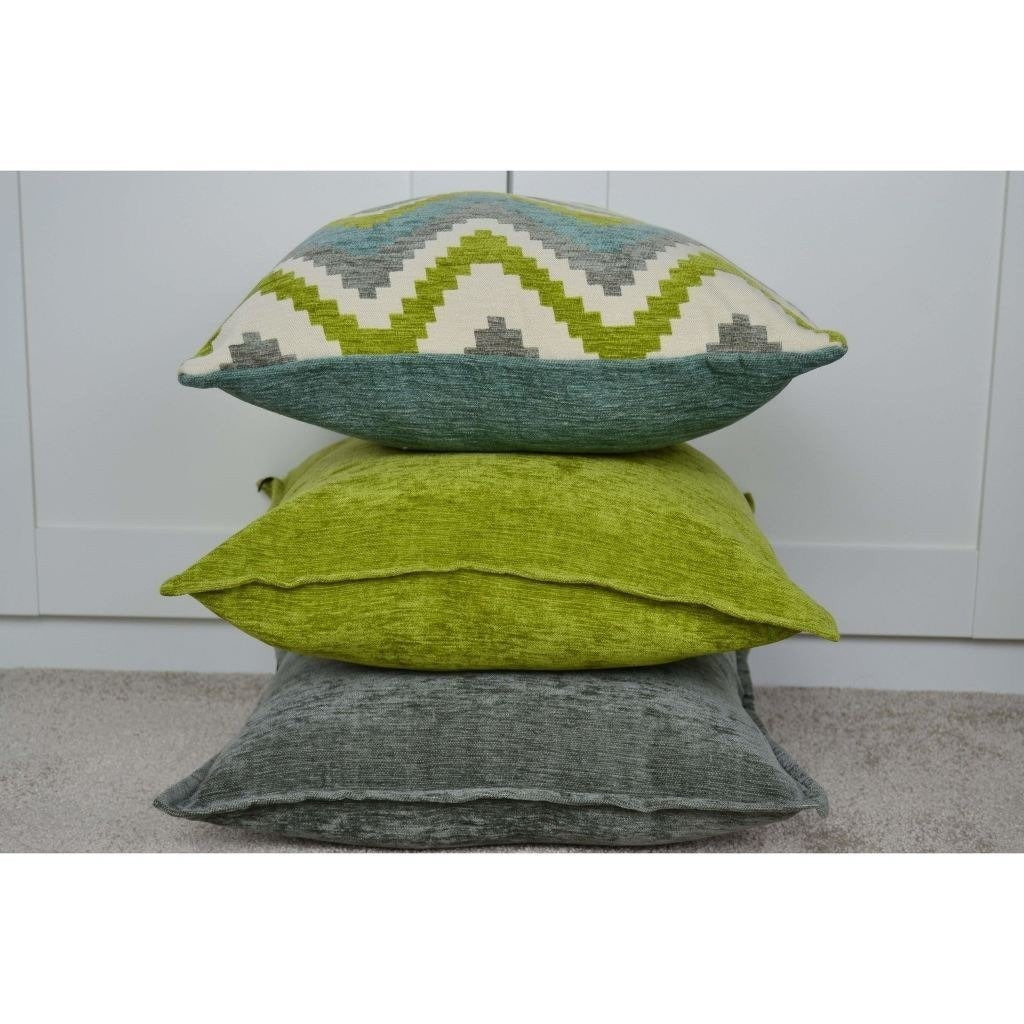 McAlister Textiles Navajo Blue + Lime Green Striped Pillow Pillow