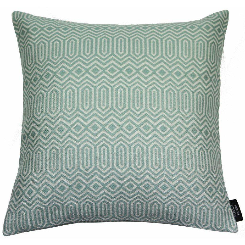 McAlister Textiles Colorado Geometric Duck Egg Blue Cushion Cushions and Covers Cover Only 60cm x 60cm