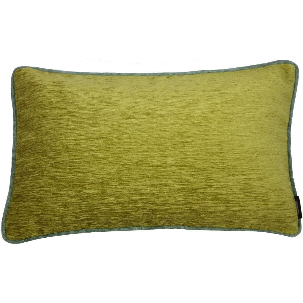 McAlister Textiles Alston Chenille Green + Duck Egg Blue Cushion Cushions and Covers Cover Only 50cm x 30cm