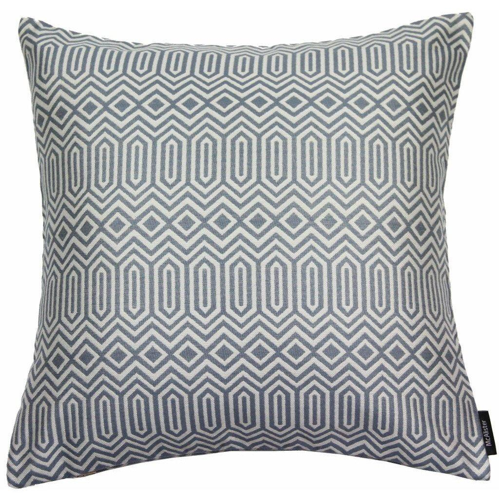 McAlister Textiles Colorado Geometric Navy Blue Cushion Cushions and Covers Cover Only 43cm x 43cm