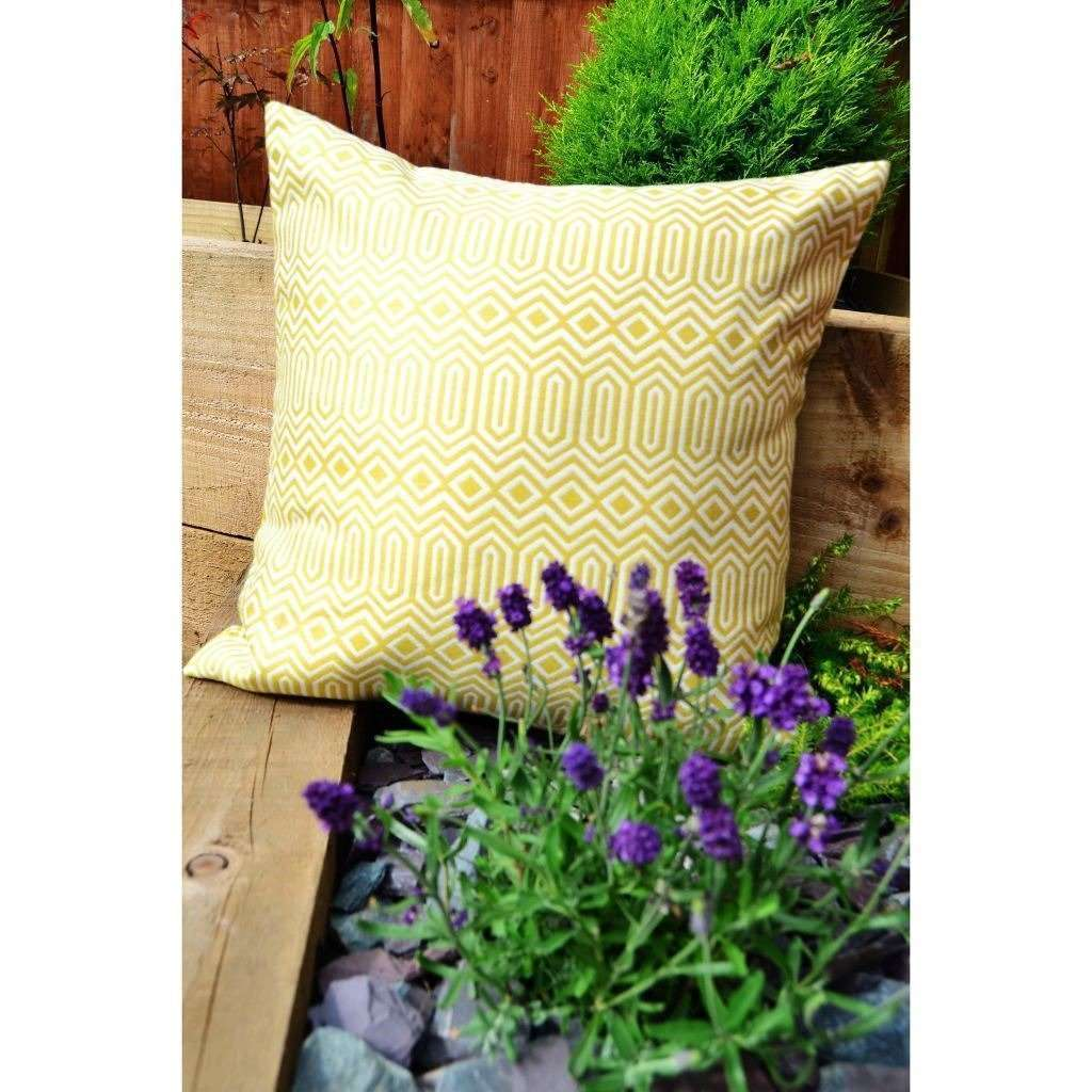 McAlister Textiles Colorado Geometric Yellow Cushion Cushions and Covers