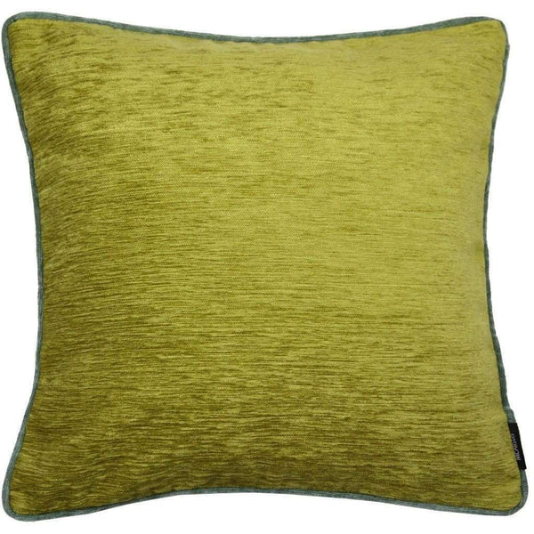 McAlister Textiles Alston Chenille Cushion - Green + Duck Egg Blue-Cushions and Covers-Cover Only-43cm x 43cm-