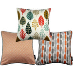Cargar imagen en el visor de la galería, McAlister Textiles Copenhagen Burnt Orange 43cm x 43cm Cushion Set of 3 Cushions and Covers Cushion Cover
