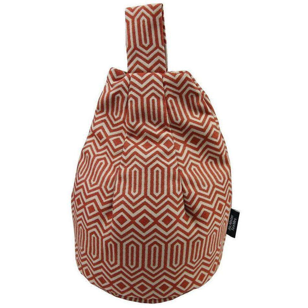 McAlister Textiles Colorado Geometric Burnt Orange Bean Bag Stand Mini Bean Bag