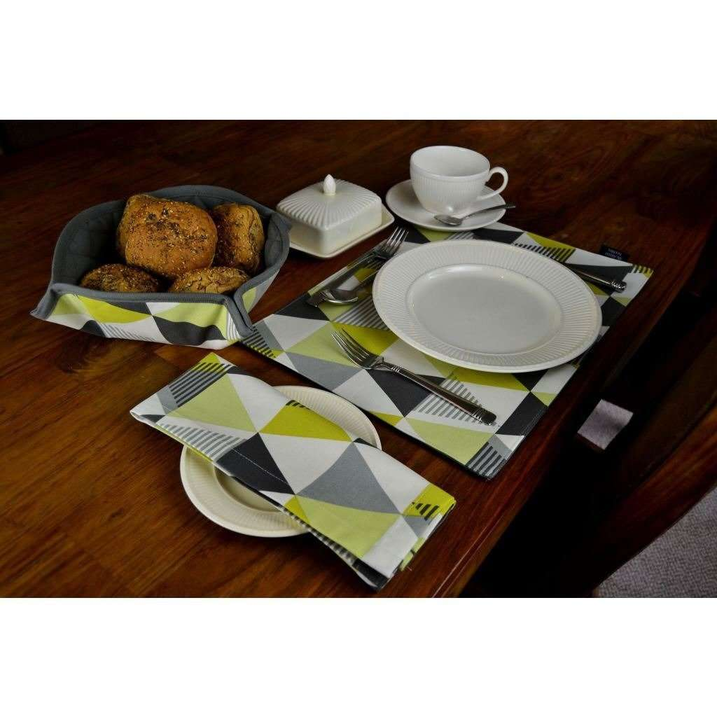 McAlister Textiles Vita Ochre Yellow Cotton Napkin Set Kitchen Accessories