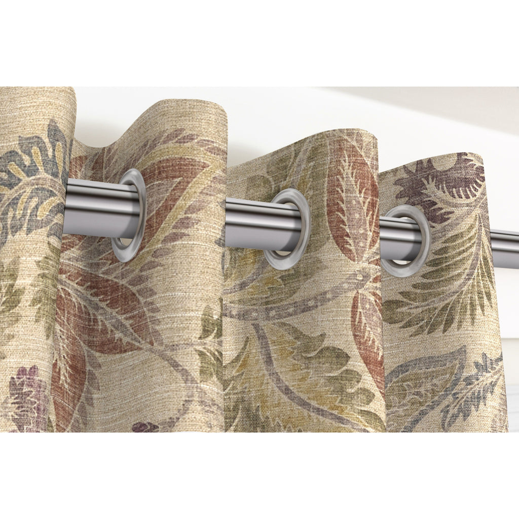 McAlister Textiles Floris Vintage Floral Linen Curtains Tailored Curtains