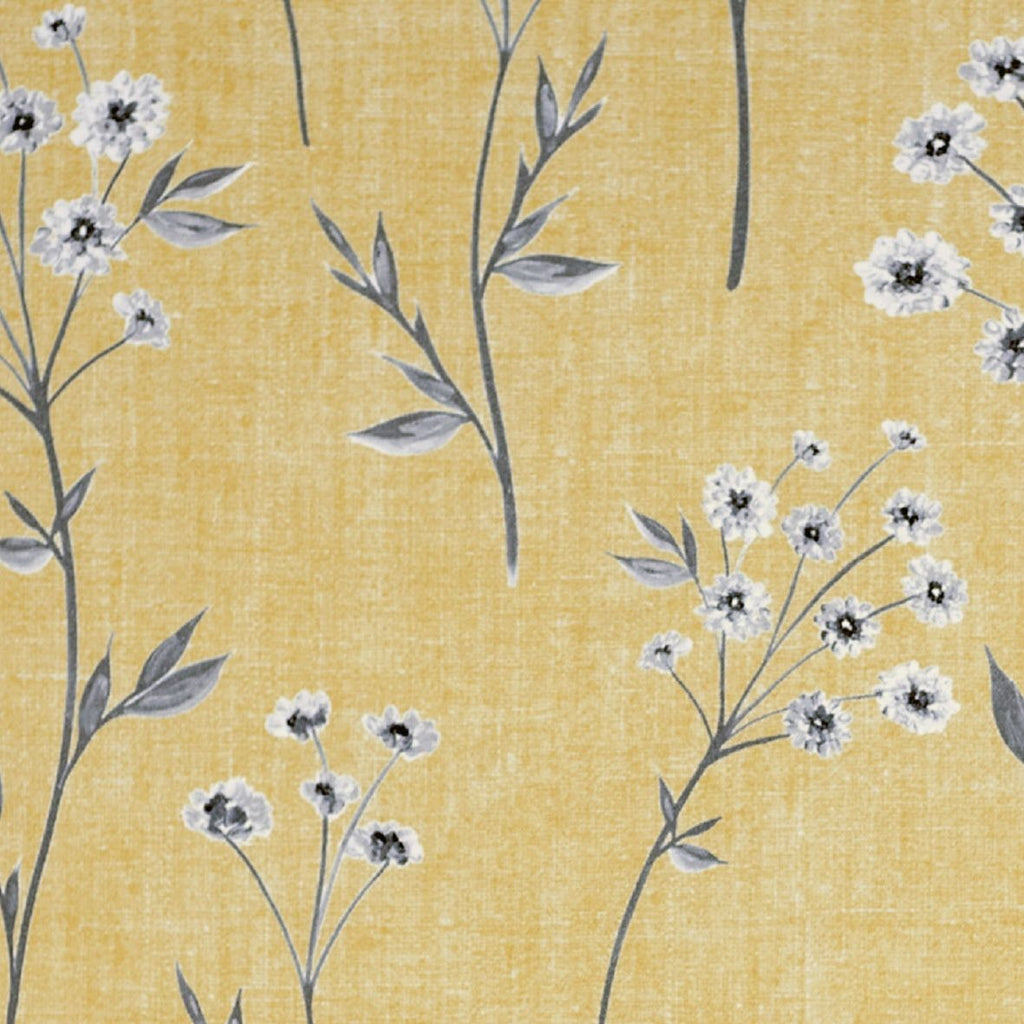 McAlister Textiles Meadow Yellow Floral Cotton Print Fabric Fabrics