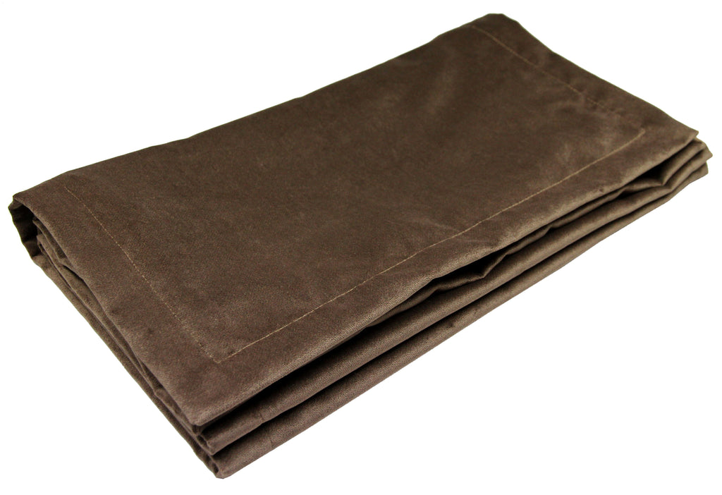 McAlister Textiles Matt Mocha Brown Velvet Table Runner Throws and Runners Table Runner (30cm x 200cm)