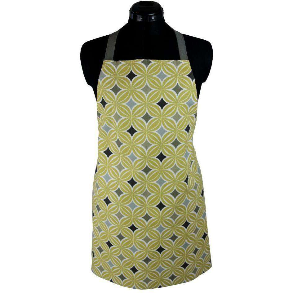 McAlister Textiles Laila Yellow Cotton Print Apron Kitchen Accessories