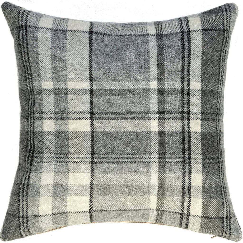 McAlister Textiles Heritage Charcoal Grey Tartan Cushion Cushions and Covers Cover Only 43cm x 43cm