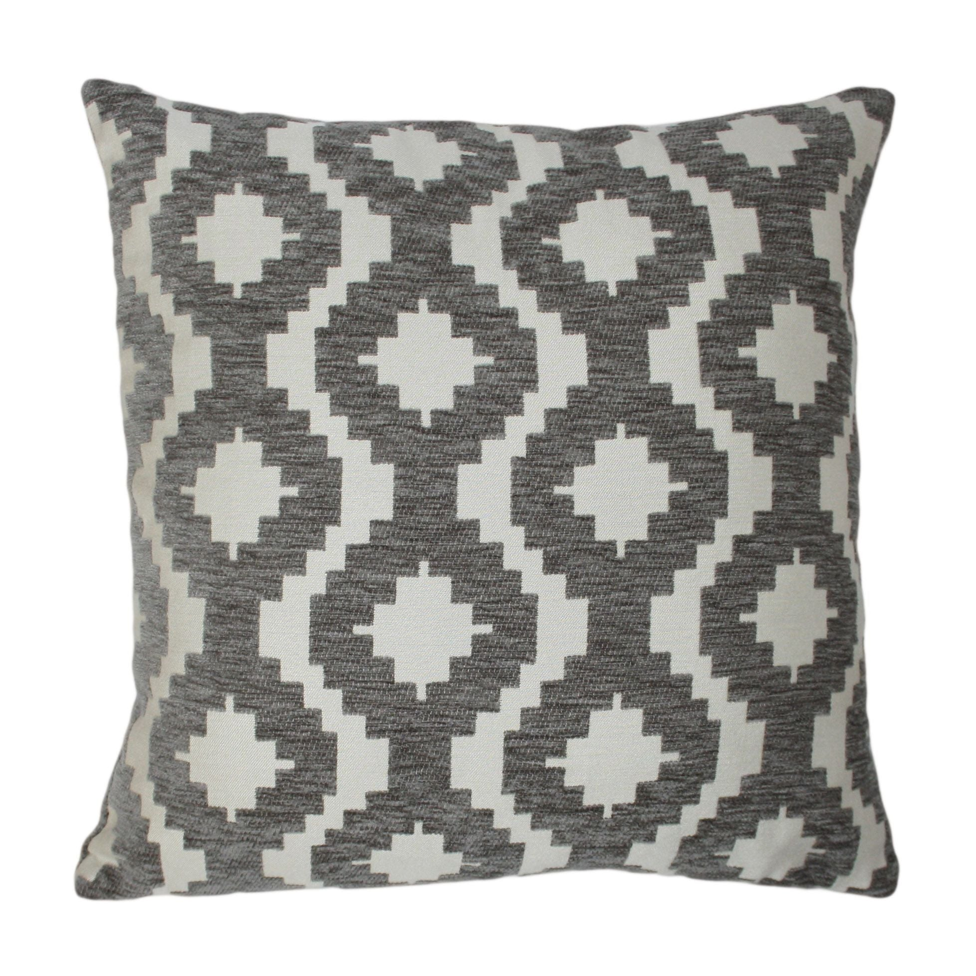 McAlister Textiles Arizona Geometric Charcoal Grey Pillow Pillow