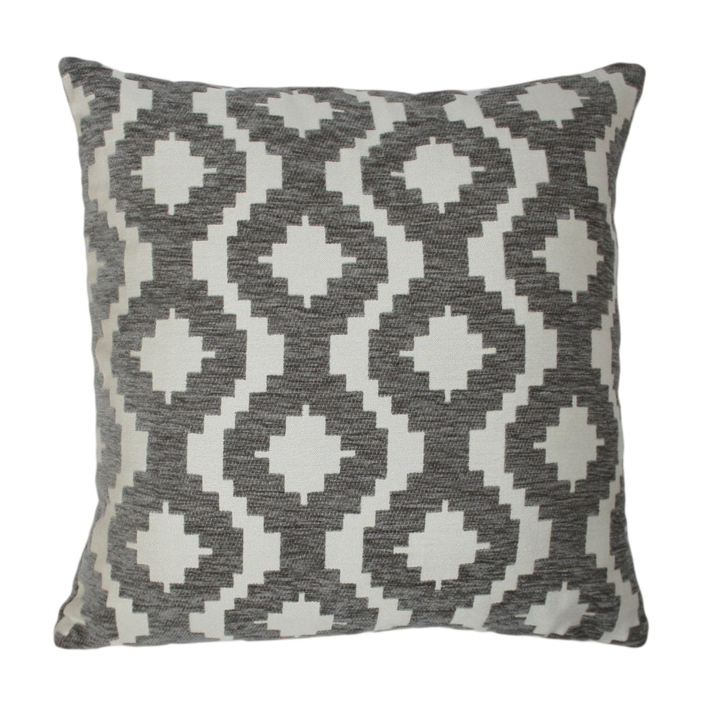 McAlister Textiles Arizona Geometric Charcoal Grey Pillow Pillow Cover Only 43cm x 43cm