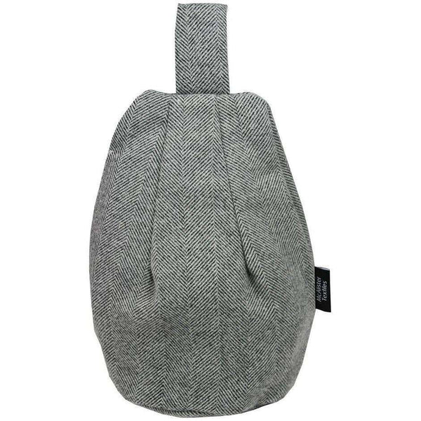 McAlister Textiles Herringbone Charcoal Grey Bean Bag Stand Mini Bean Bag