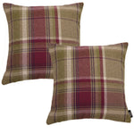 Laden Sie das Bild in den Galerie-Viewer, McAlister Textiles Heritage Purple + Green Tartan 43cm x 43cm Cushion Sets Cushions and Covers Cushion Covers Set of 2