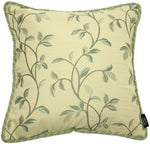 Load image into Gallery viewer, McAlister Textiles Annabel Floral Duck Egg Blue Pillow Pillow Cover Only 43cm x 43cm